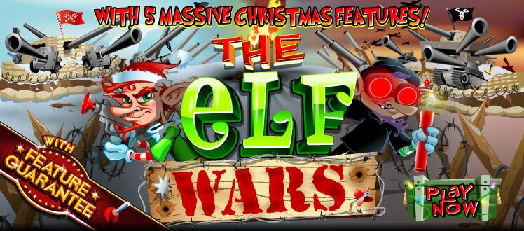 Elf Wars slot review image and logo
