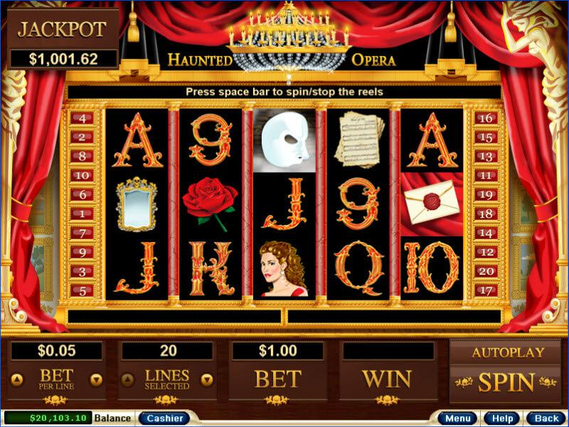 Haunted Opera slot review image and logo
