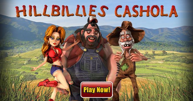 Hillbillies Cashola slot review image and logo