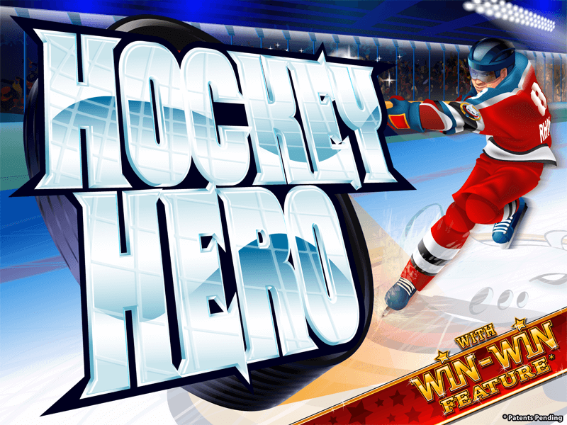 Hockey Hero slot review image and logo