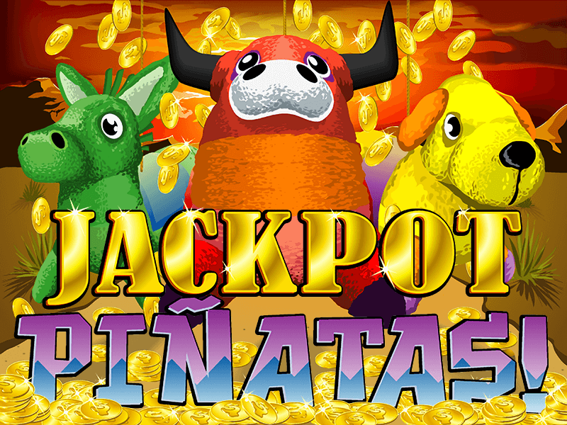 Jackpot Pinatas slot review image and logo