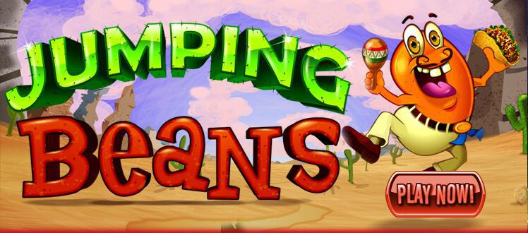 Jumping Beans slot review image and logo