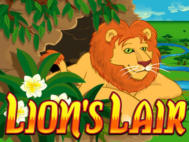 Lion's Lair slot review image and logo