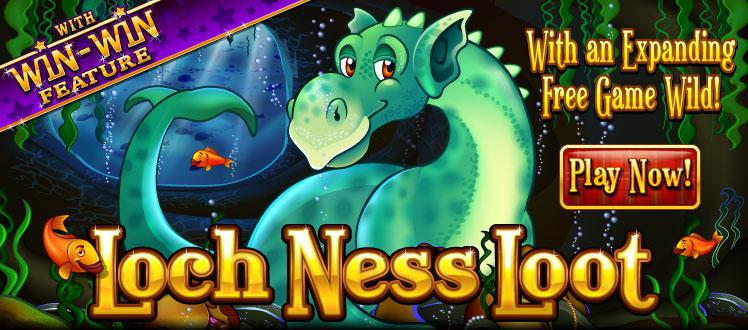 Loch Ness Loot slot review image and logo