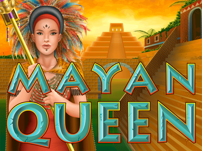 Mayan Queen slot review image and logo