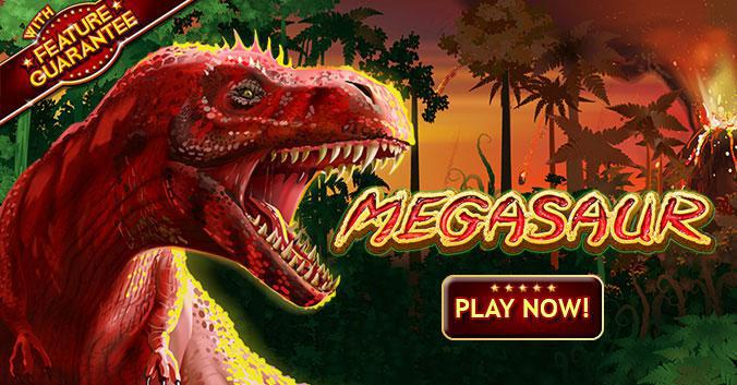 Megasaur slot review image and logo