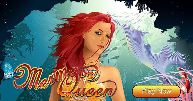 Mermaid Queen slot review image and logo