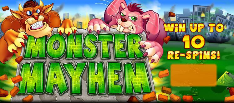 Monster Mayhem slot review image and logo
