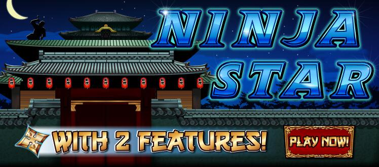 Ninja Star slot review image and logo