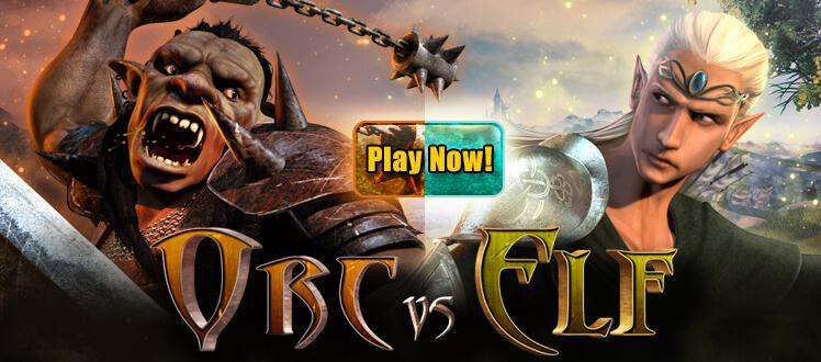 Orc vs Elf slot review image and logo