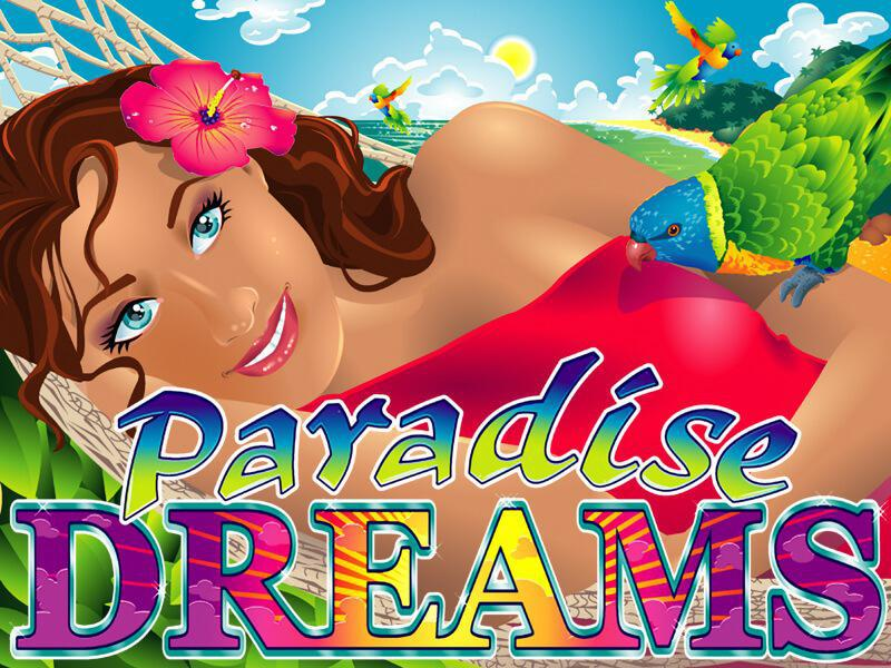 Paradise Dreams slot review image and logo