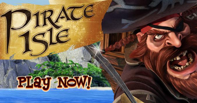 Pirate Isle 3D slot review image and logo