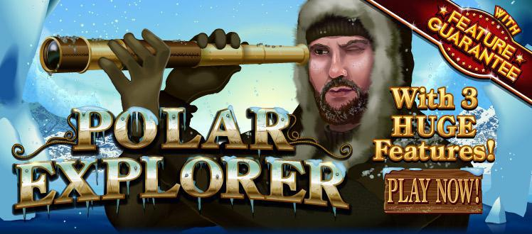 Polar Explorer slot review image and logo