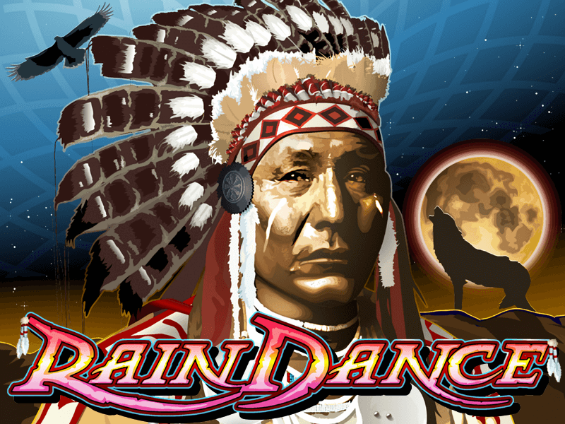 Rain Dance slot review image and logo