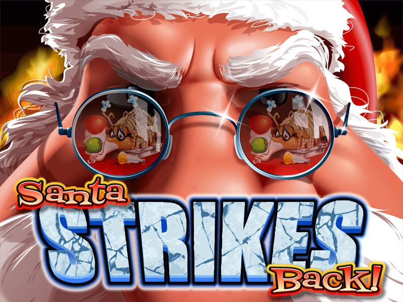 Santa Strikes Back slot review image and logo