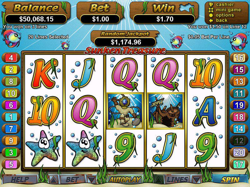 Изменилось; Автомат Игровой Treasure Sunken тщательно