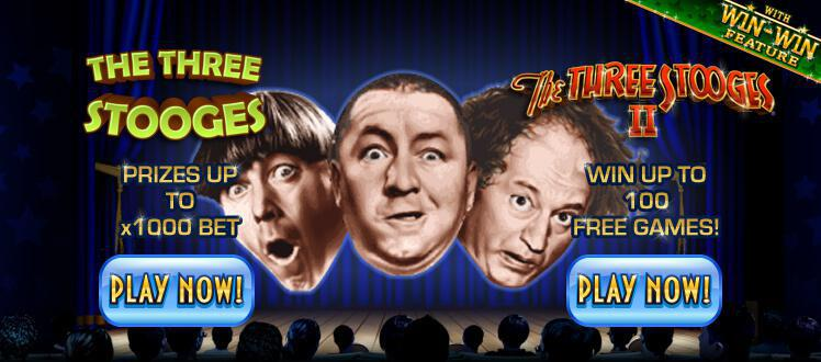 The Three Stooges II slot review image and logo