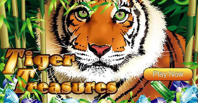 Tiger Treasures slot review image and logo