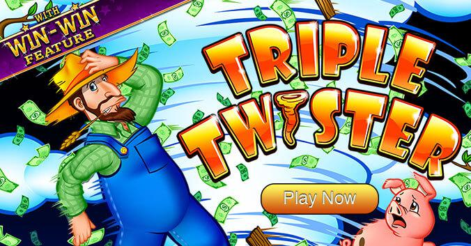 Triple Twister Slot Game - Play Now and win real money!