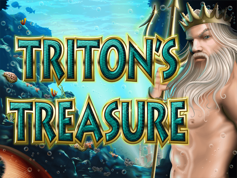 Tritons Treasure slot review image and logo