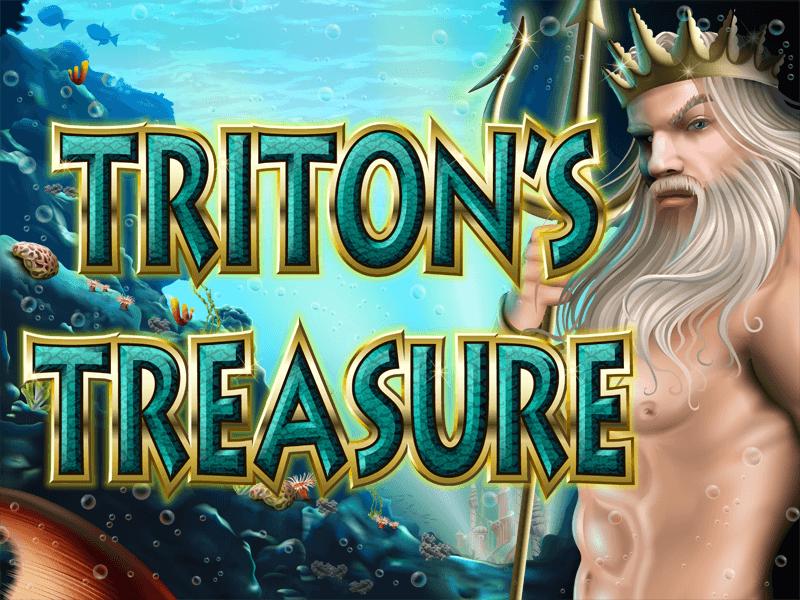 Tritons Treasure slot review image and logo