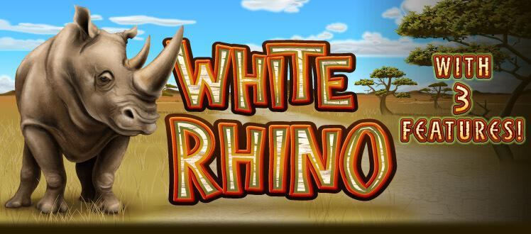 White Rhino slot review image and logo