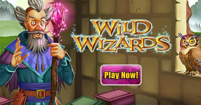 Wild Wizards slot review image and logo