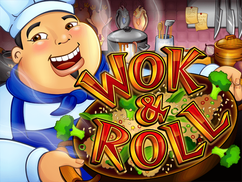 Wok and Roll slot review image and logo