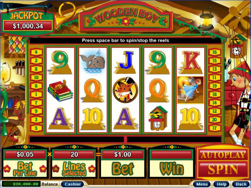 Wooden Boy slot review image and logo
