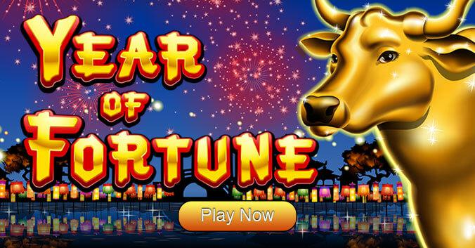 Year of Fortune slot review image and logo