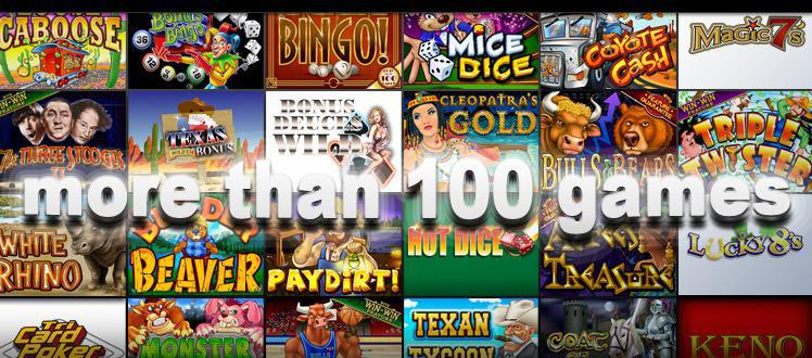 Play over 100 onlin eslots at Yebo Casino