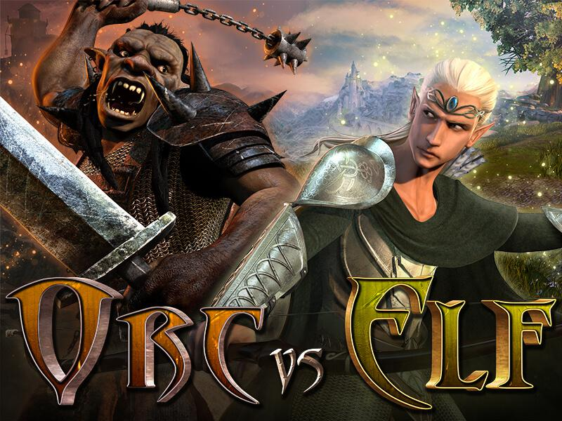Orc vs Elf 3D Slot Game