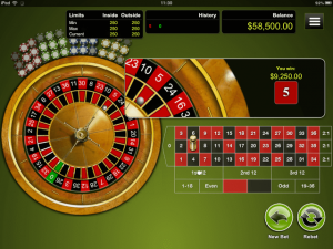 Mobile Roulette - iPad