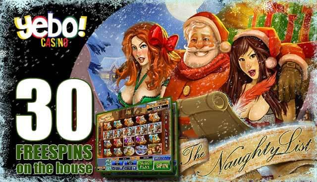 The Naughty List - 30 Free Spins at Yebo Casino
