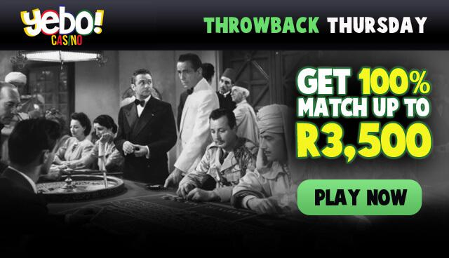 Throwback Thursdays - 100% up to R3,500