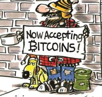 begger accepting bitcoins