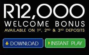 R12,000 welsome bonus at Yebo Casino