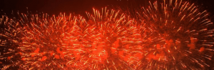 pic of fireworks during chinese newyear 2018