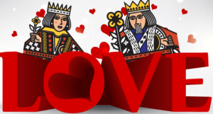 picture welcoming gamblers to the month of love