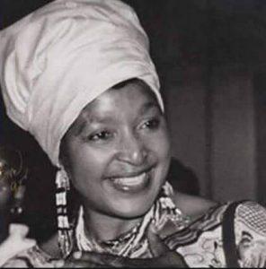 a younger Winnie Mandela