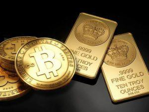 bitcoins and Gold