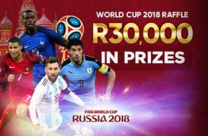 Promo poster for world cup raffle