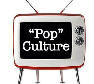 televison with the word pop culture
