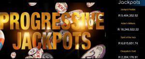 list of progressive jackpot prizes at Yebo Casino