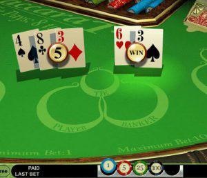Baccarat online table game