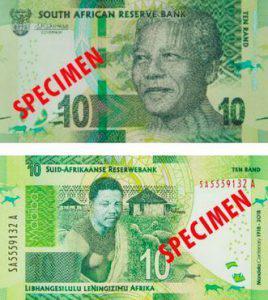 R10 Mandela centenary Note