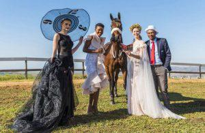 picture with horse and people t durban july