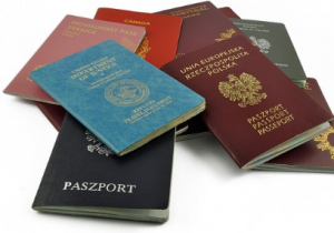 a collection of different passports in the world