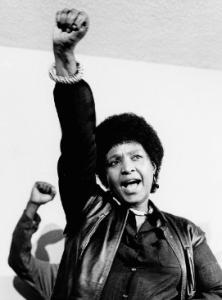 Winnie Mandela during the apartheid era