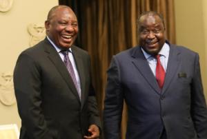 Tito Mboweni and Cyril Ramaposa